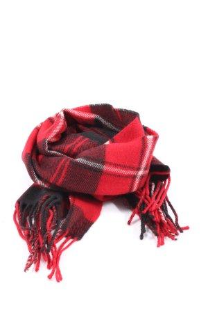 Highlander Wełniany szalik czerwony-czarny Na całej powierzchni W stylu casual