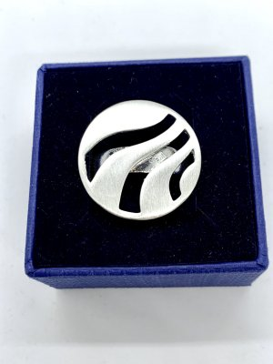 Juwelier Zdobiony pierścionek jasnoszary