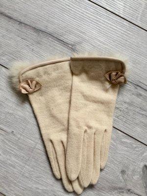 Rękawiczki kremowy-jasnobeżowy