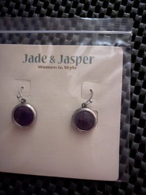 Jade & Jasper Pendientes colgante multicolor