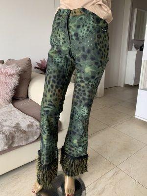Vintage Pantalon pattes d'éléphant multicolore
