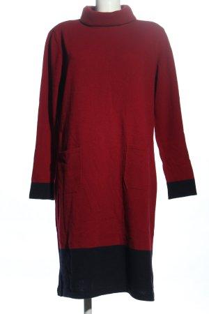 Highmoore Pulloverkleid rot-schwarz Casual-Look