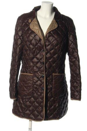 Highmoore Abrigo acolchado marrón-blanco puro estampado acolchado look casual