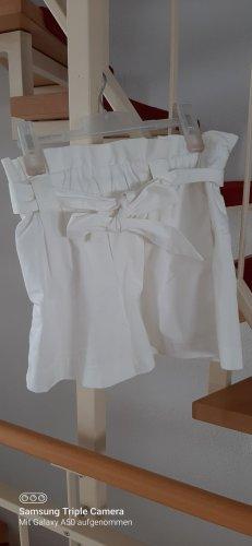 Hennes Collection by H&M Szorty z wysokim stanem biały