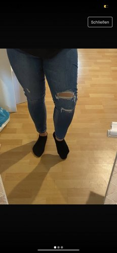 Stradivarius Hoge taille jeans neon blauw-blauw