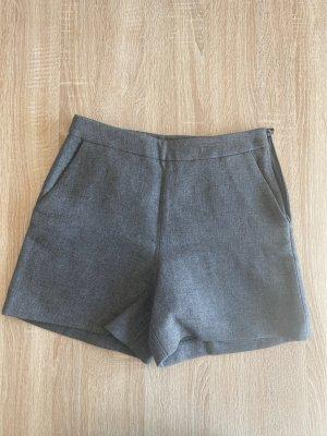 Hallhuber Pantalón corto de talle alto gris oscuro