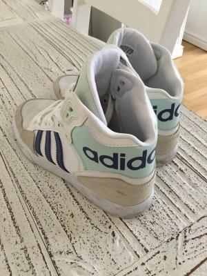 Adidas High top sneaker wit-staalblauw