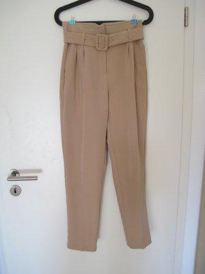 NA-KD Pantalone da abito oro-color carne Poliestere