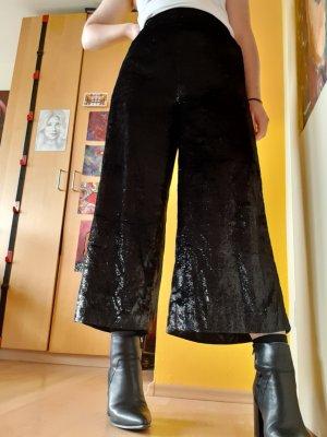yfl RESERVED Pantalon taille haute noir-argenté
