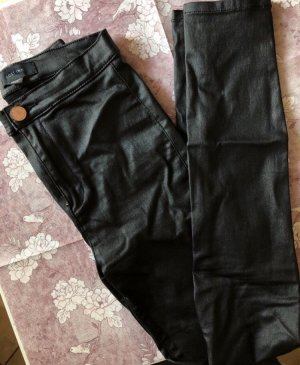 Lost Ink Leather Trousers black