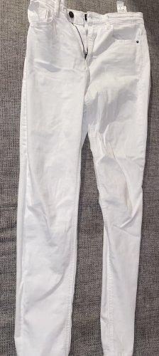 Stradivarius Jeans taille haute blanc