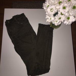 Hoge taille jeans oker