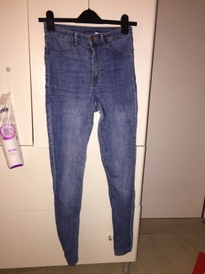 H&M Divided Hoge taille jeans azuur