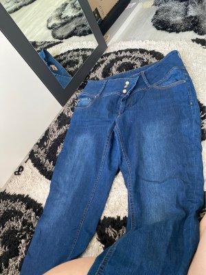 Kik Jeans taille haute bleu foncé