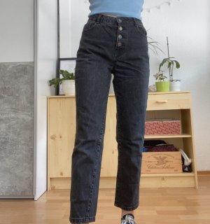 Pimkie Jeansy z wysokim stanem czarny
