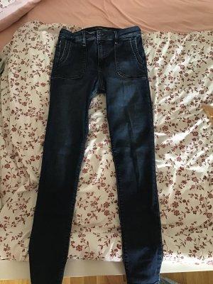 Abercrombie & Fitch Spodnie rurki Wielokolorowy Bawełna