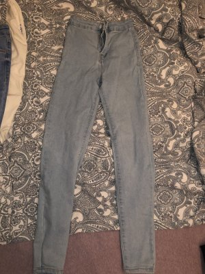 Bershka Jeans taille haute bleu clair