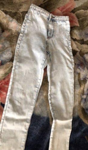 Primark Pantalone a vita alta bianco-celeste