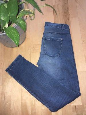 Only Jeans a vita alta blu scuro-blu