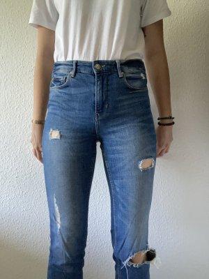 Highwaist-Jeans used-look