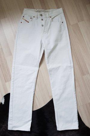 Diesel Spodnie z wysokim stanem biały
