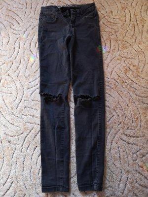 Only Hoge taille jeans zwart-donkergrijs