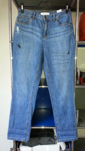 Highwaist Jeans von Promod !! Designerdition mit franz. Text !! Anschauen!! Gr. 40