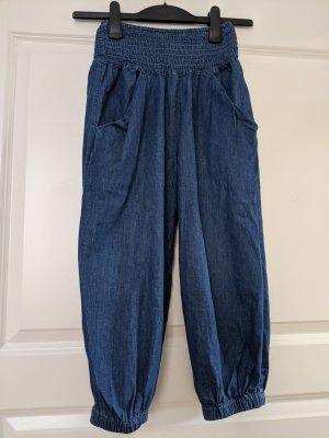 highwaist leichte Hose Jeansoptik