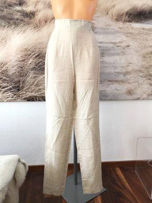 Highwaist-Leinenhose * naturfarben * Gr. M * 36/38