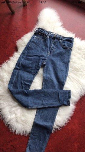Mango Hoge taille jeans donkerblauw-blauw