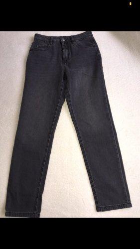 C&A Pantalón boyfriend gris oscuro-negro