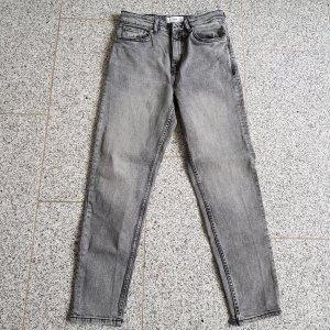 Mango Hoge taille jeans grijs