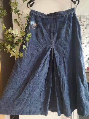 High Waist Skirt blue-dark blue