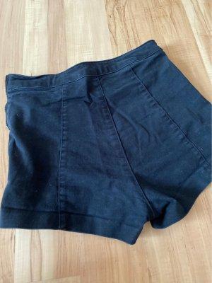 H&M Pantaloncino a vita alta nero