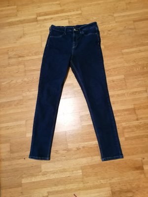 H&M Hoge taille jeans donkerblauw