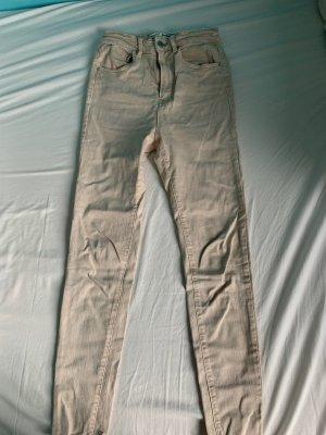 Stradivarius Jeans skinny bianco sporco-crema