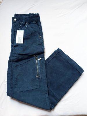 Vintage Pantalón de pana petróleo-azul cadete
