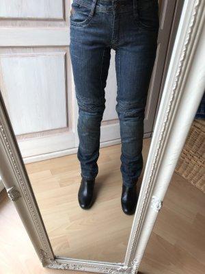 Pantalon cinq poches bleu acier