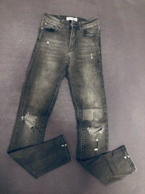 Tally Weijl Jeans taille haute gris foncé