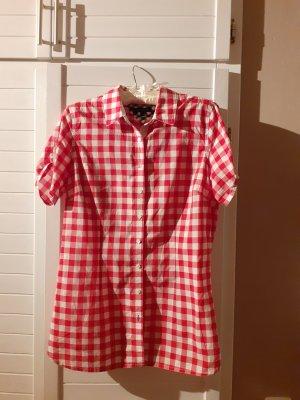 Tommy Hilfiger Geruite blouse wit-rood