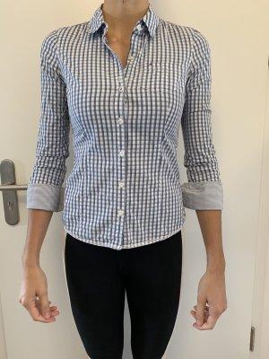 Hilfiger Business Bluse in weiß/blau Karo