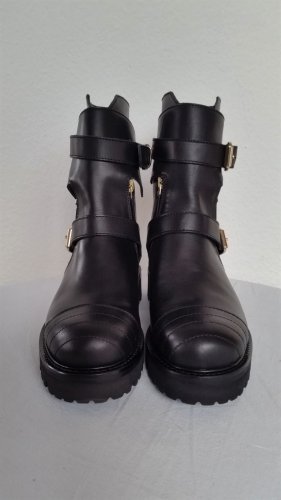 Hilfiger Collection Botas moteras negro Cuero