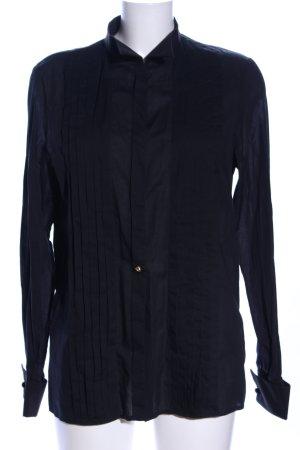 Hilfiger Collection Langarm-Bluse schwarz Business-Look