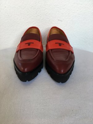 Hilfiger Collection, Mokassins, burgund/rot, Leder, 39, neu, € 350,-