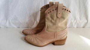 Hilfiger Collection, Western Boots, Leder/Veloursleder, nude/sand, 37, neu