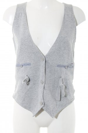 Hilfiger Denim Waistcoat light grey flecked casual look