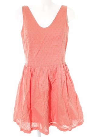 Hilfiger Denim Robe ballon orange-abricot motif de tache style décontracté