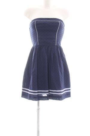 Hilfiger Denim Bandeau Dress blue-white cotton