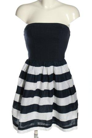 Hilfiger Denim Sukienka z dekoltem typu bandeau niebieski-biały Wzór w paski