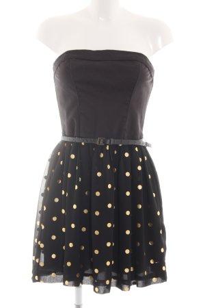 Hilfiger Denim Bandeau Dress black-gold-colored spot pattern elegant